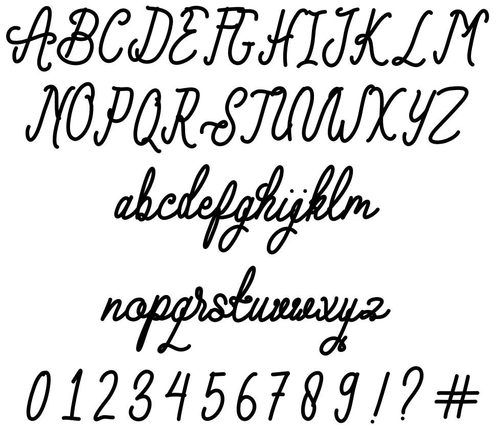 Lollipolly font