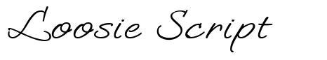 Loosie Script font