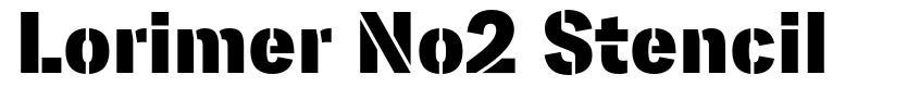 Lorimer No2 Stencil font