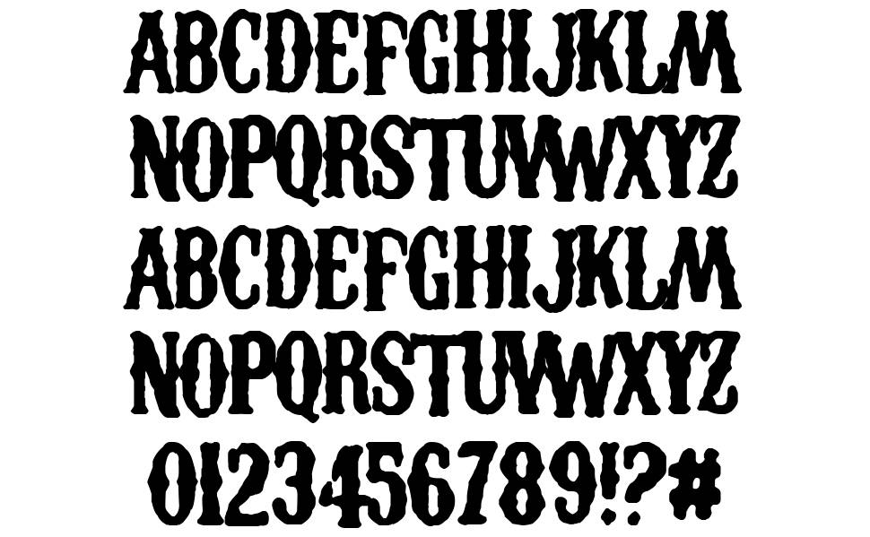 Los Chapters font