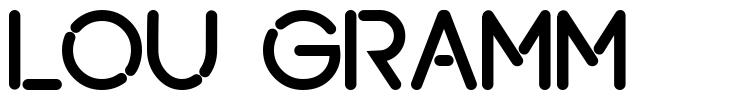 Lou Gramm font
