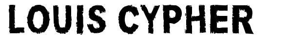 Louis Cypher font