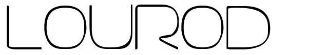 Lourod font