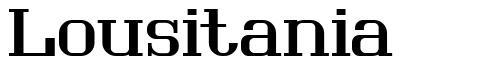 Lousitania font
