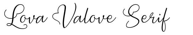 Lova Valove Serif шрифт
