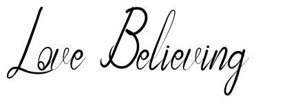 Love Believing