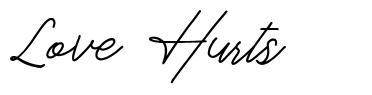Love Hurts шрифт