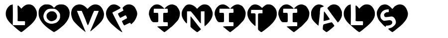 Love Initials font