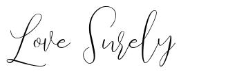 Love Surely font