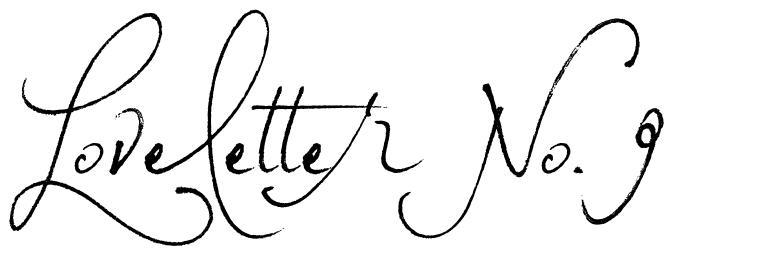 Loveletter No. 9 font