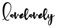 Lovelovely font