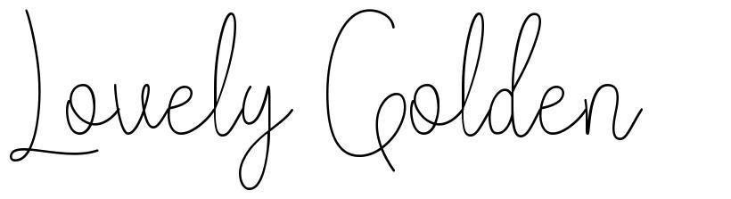 Lovely Golden font
