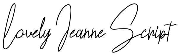 Lovely Jeanne Script schriftart