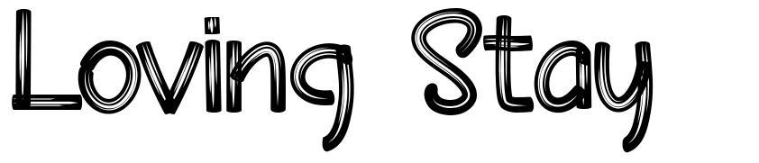 Loving Stay font