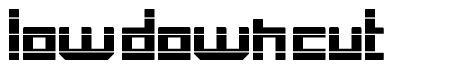 Low Down Cut font