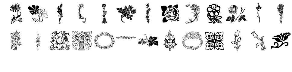 LP Flowers 1 फॉन्ट