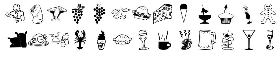 LP Food font