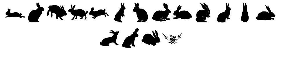 LP Rabbits 1 फॉन्ट