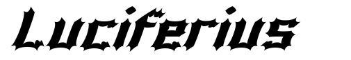 Luciferius font