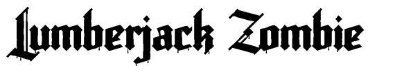Lumberjack Zombie font