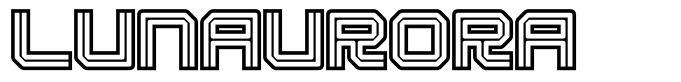 Lunaurora font