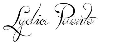 Lydia Puente 字形