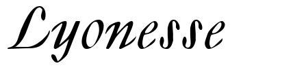 Lyonesse 字形