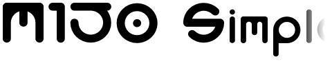 M150 Simple Round Font