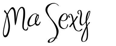 Ma Sexy font