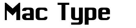 Mac Type font