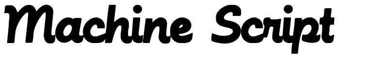 Machine Script font