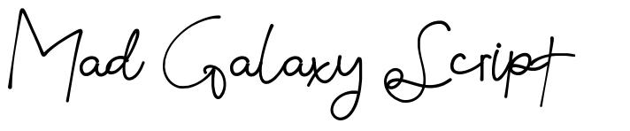 Mad Galaxy Script fonte