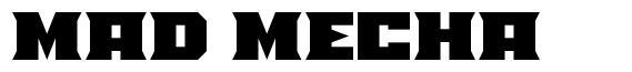 Mad Mecha 字形