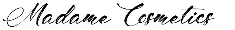 Madame Cosmetics písmo