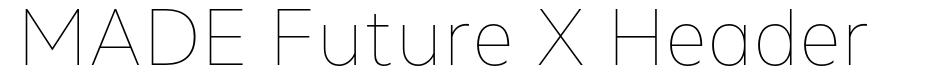 MADE Future X Header font