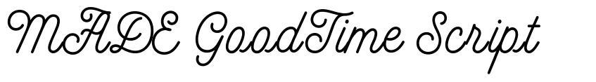 MADE GoodTime Script font