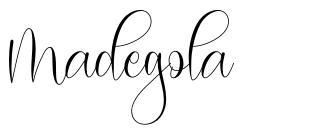 Madegola písmo