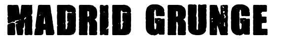 Madrid Grunge font
