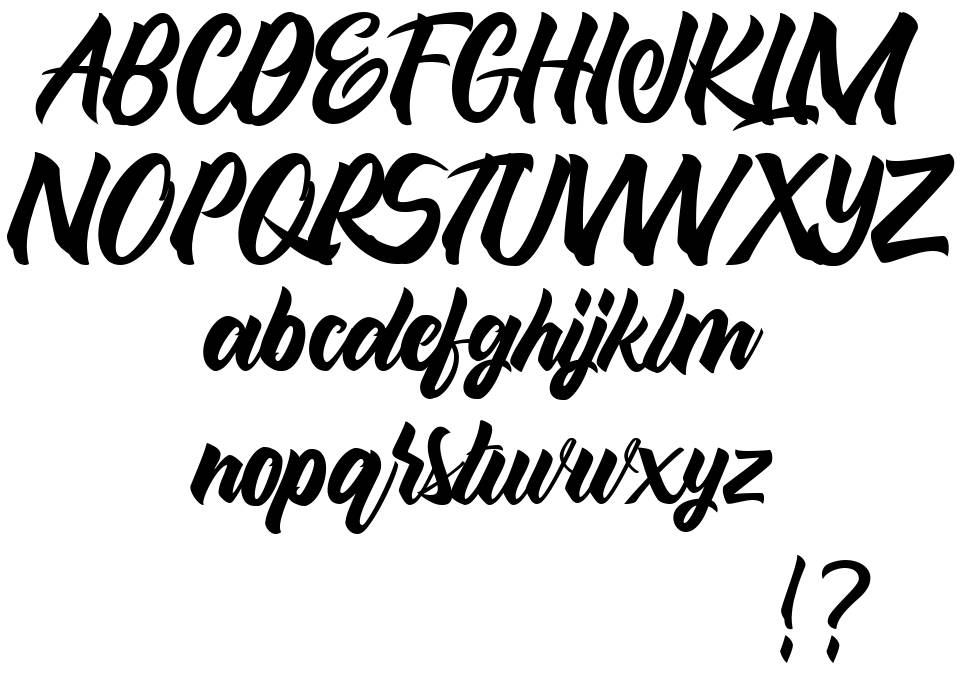 Maghody font