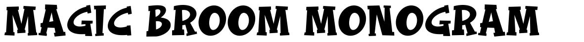Magic Broom Monogram