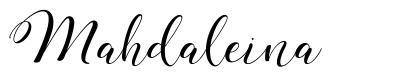 Mahdaleina шрифт
