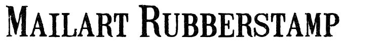 Mailart Rubberstamp шрифт