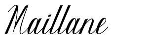 Maillane font