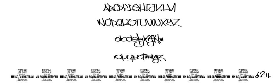 Mainstream font