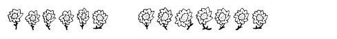 Maja's Flowers font