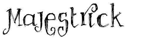 Majestrick font