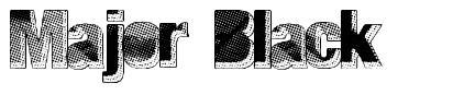 Major Black font