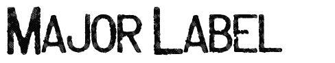 Major Label font