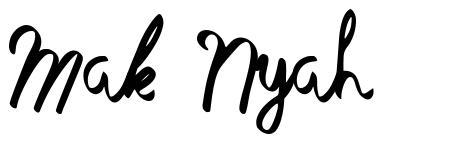 Mak Nyah písmo