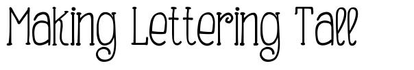 Making Lettering Tall font
